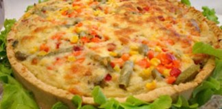 Receita de Torta de Frango com Legumes