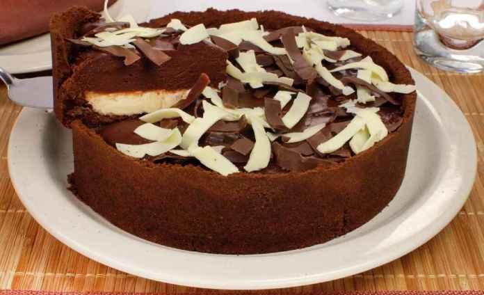 Torta de chocolate dupla