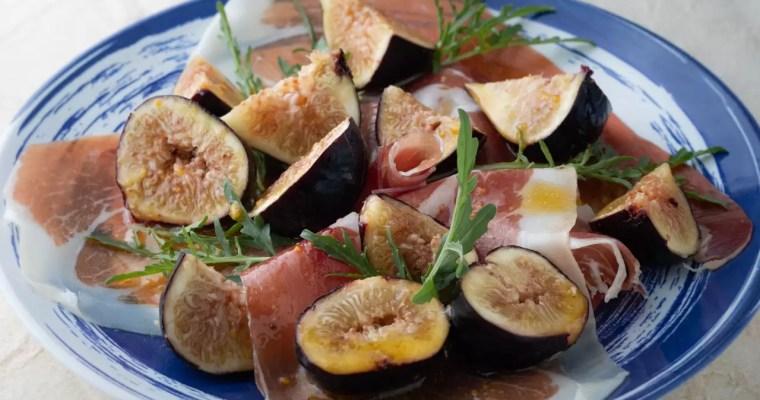 Salada de figos e presunto