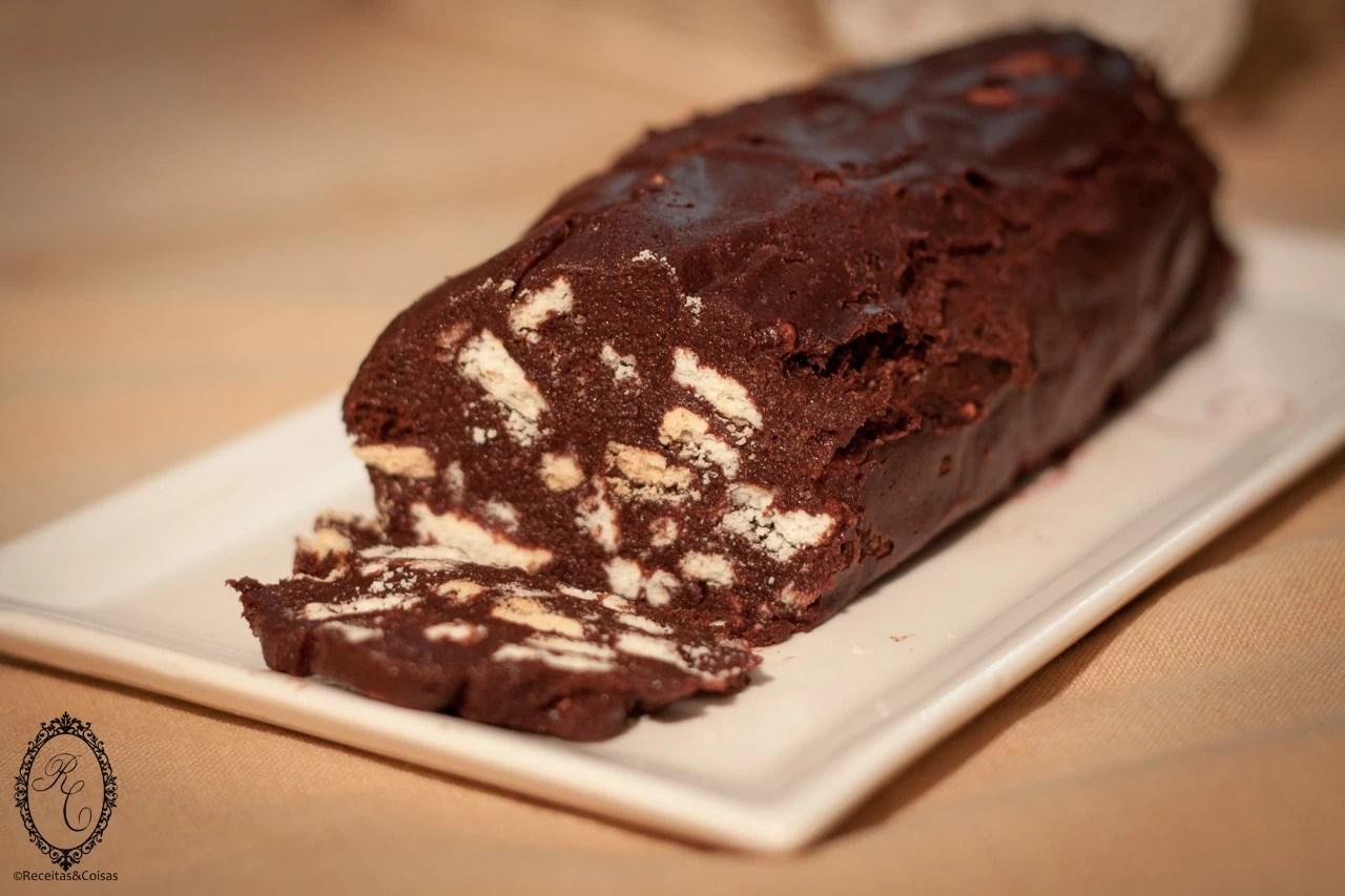Salame de chocolate – Sem glúten