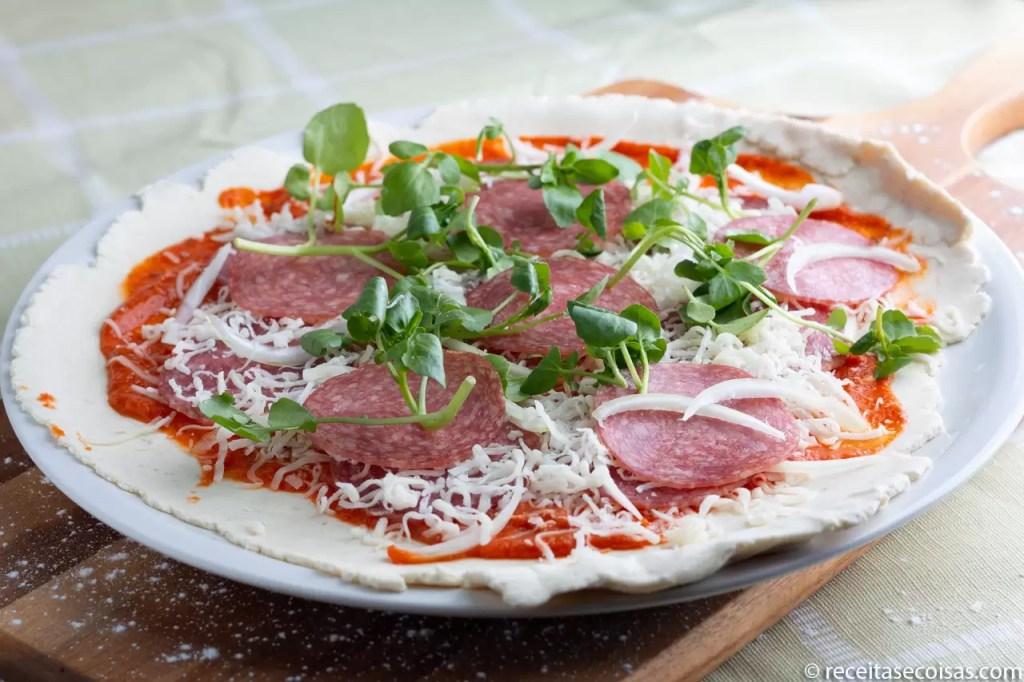 Sugestão de apresentação de pizza sem glúten