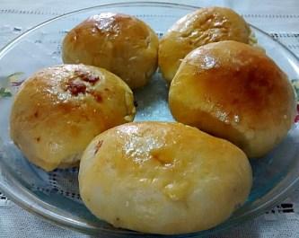 Receita de massa de pão com recheio