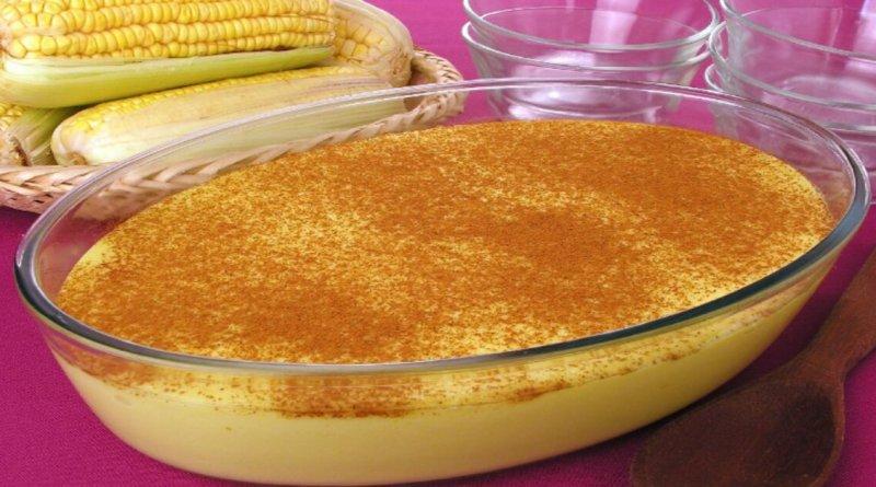 Curau de milho com leite condensado