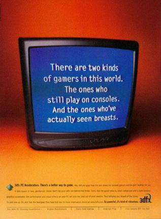 vecchia pubblicità schede video 3dfx