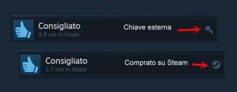 Steam icone recensioni