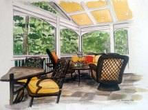 Back Porch rendering for D&M