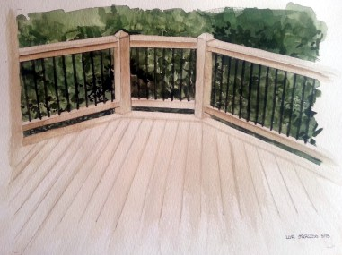 Decking watercolor for Decks & More catalog