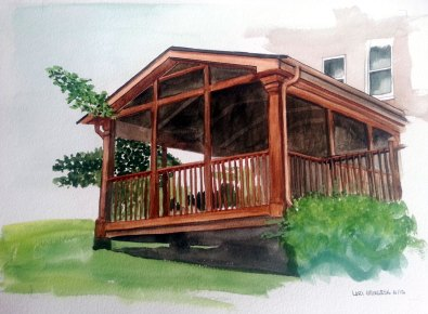 Back porch rendering for Decks & More