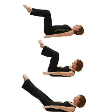 Pilates hundred exercise