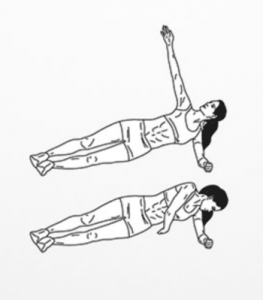 Side plank rotations
