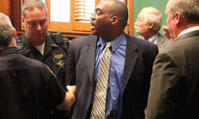 Judge Lance Mason, a former Ohio county judge and Democrat state senator, has been arrested and charged with murdering his estranged wife after she was found stabbed to death in the driveway of her family home.