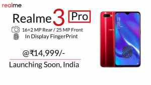 Realme 3 Pro: Price, Specifications, Features Leaked, Budget Mid-range Phone?