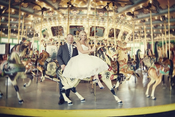 amusement park wedding