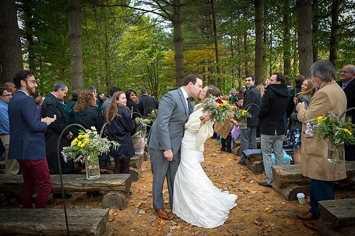 inside forest wedding