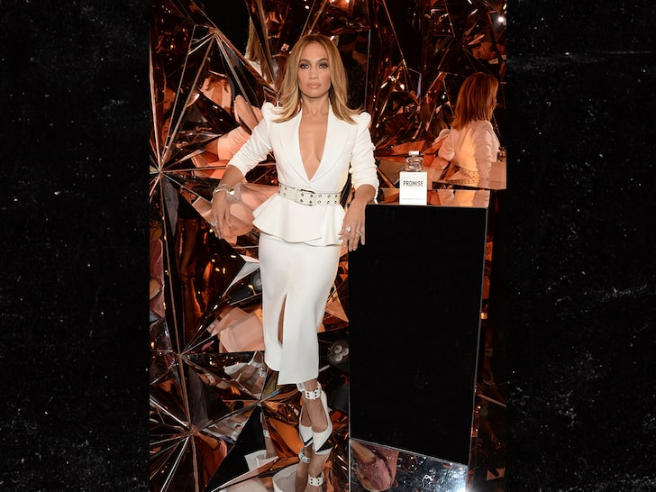 J Lo Launches Super Bowl Perfume on the same day.