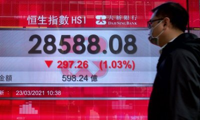 Asian stocks are mixed following Wall Street's gains in the technology sector.