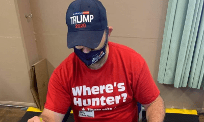 California election worker removed from polling place for wearing Trump shirt, hat
