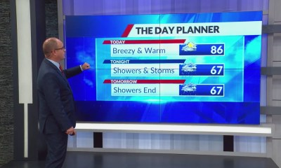 High temp in 80s today, cold front brings storms and cooler air this week