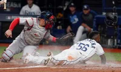 Red Sox allow Randy Arozarena to steal home in decisive 5-0 loss to Rays in Game 1 of ALDS