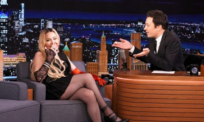 Madonna Dances While Lifting Her Dress After Lunging Across Jimmy Fallon's Desk On 'Tonight Show'