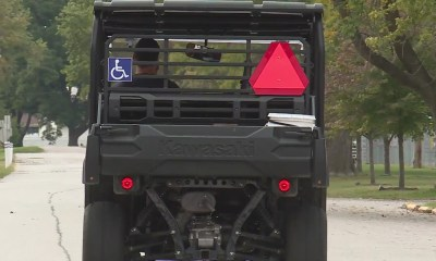Disabled vet fights to drive his mobility device on the road in front of his work