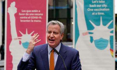 NYC mayor issues vaccine mandate for cops, firefighters, city workers