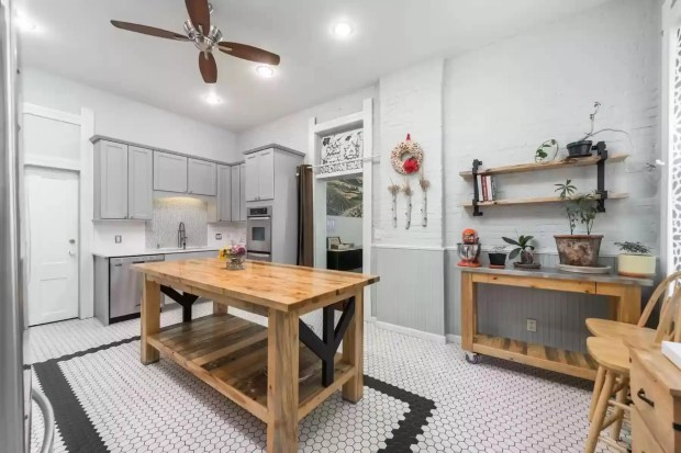 Renovated kitchen in the Queen Anne Bed & Breakfast