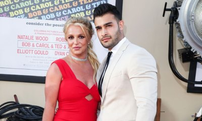 Britney Spears & Fiancé Sam Asghari Load Up On Fast Food Before Going For A Drive – Photos