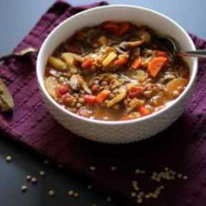 Рецепт Суп из грибов и фарро