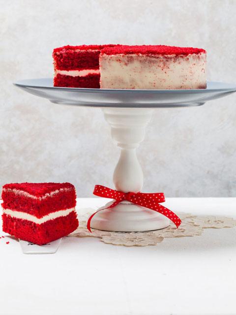 Красный бархатный тортик