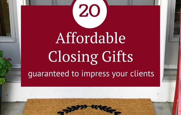 Genius closing gift ideas. Closing gifts for buyers, closing gifts for sellers, even