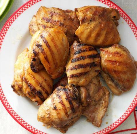 Pollo en plancha con mostaza