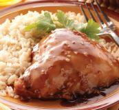Pollo con salsa dulce picante
