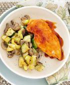 Pollo glaseado con limón