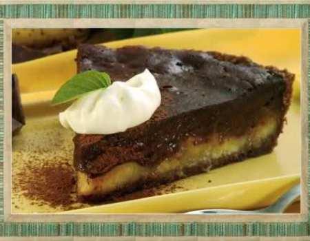 tarta de banana al chocolate