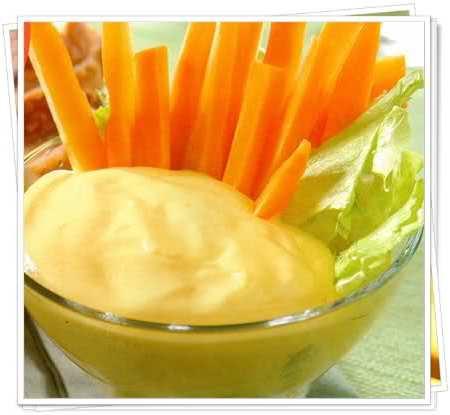 mayonesa de papa y zanahoria