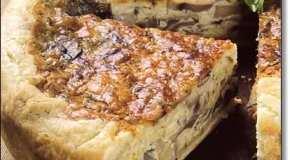 Tarta de hongos y queso