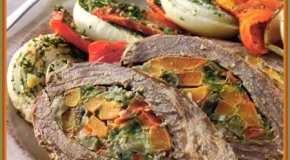 Cima rellena con vegetales