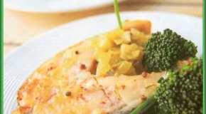Salmón con cebollas y ciboulette