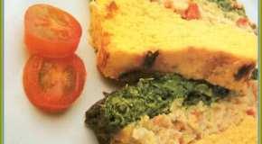 Budín de soja con zanahorias y acelga
