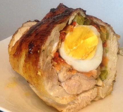 Arrollado de Pollo al horno