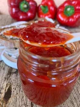 Chutney de pimientos rojos
