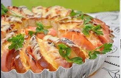 Pan de molde tostado relleno