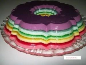 gelatina multicolor1 - Recetas postres tradicionales
