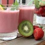 Smoothie de fresas, kiwi y soja