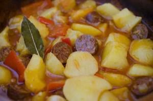 patatas con chorizo1 e1473879298329 - Legumbres, guisos y potajes - Thermomix