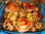 pollo asado con limón - Carne de cerdo con almejas