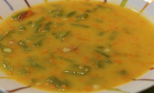 sopa de zanahorias y judias verdes - Sopa de verduras con Thermomix