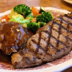 New York steak - New York steak  ( filete de vaca a la parrilla)