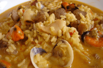 arroz meloso - Arroz caldoso con magro de cerdo
